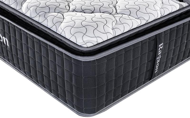 Rayson chic design single pocket sprung mattress knitted fabric high density-11