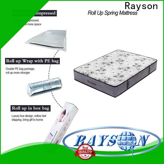 euro rolled memory foam mattress latex top for customization
