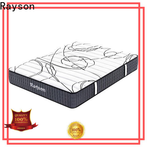 Rayson tight top best pocket spring mattress knitted fabric high density