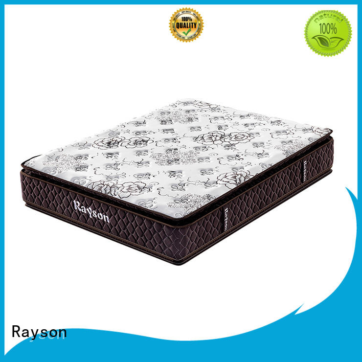 Rayson king size pocket spring mattress knitted fabric high density