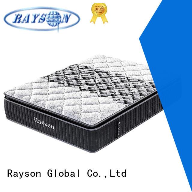 Rayson chic design single pocket sprung mattress knitted fabric high density