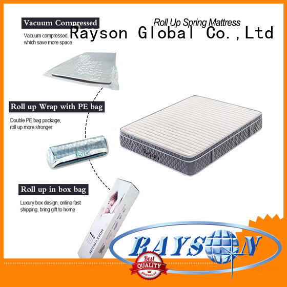 latex rolled foam spring mattress sale Rayson company