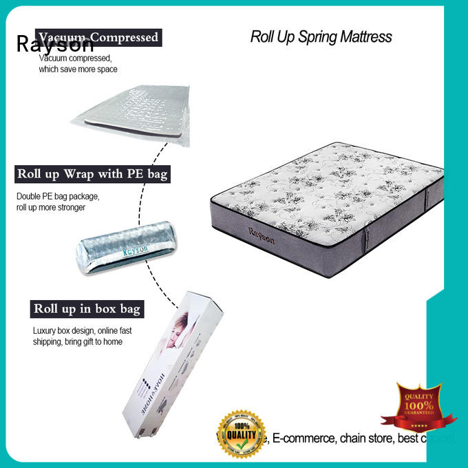Rayson full size roll up bed mattress vacuum compressed for customization