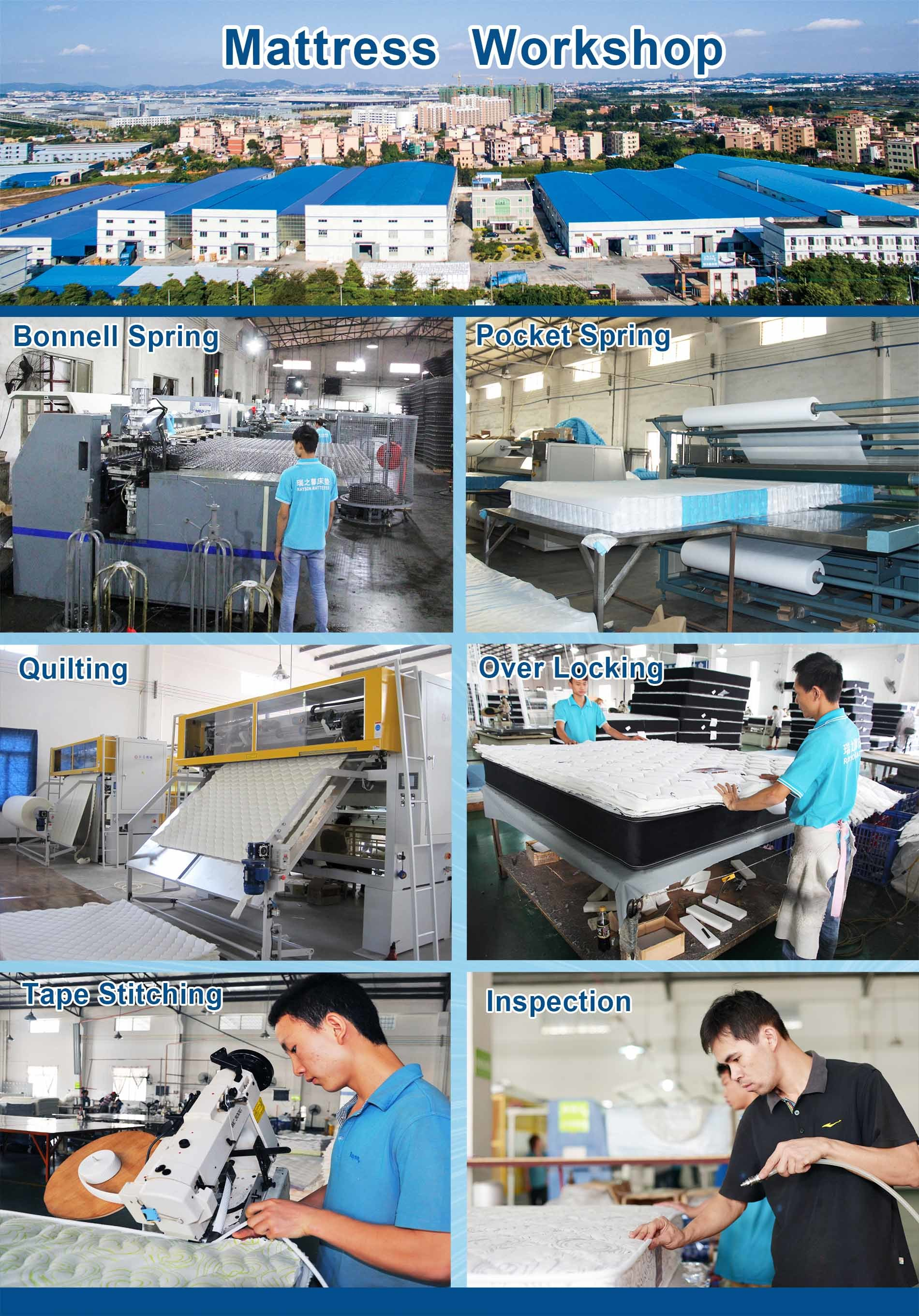 two tight sale Synwin Brand pocket spring mattress supplier