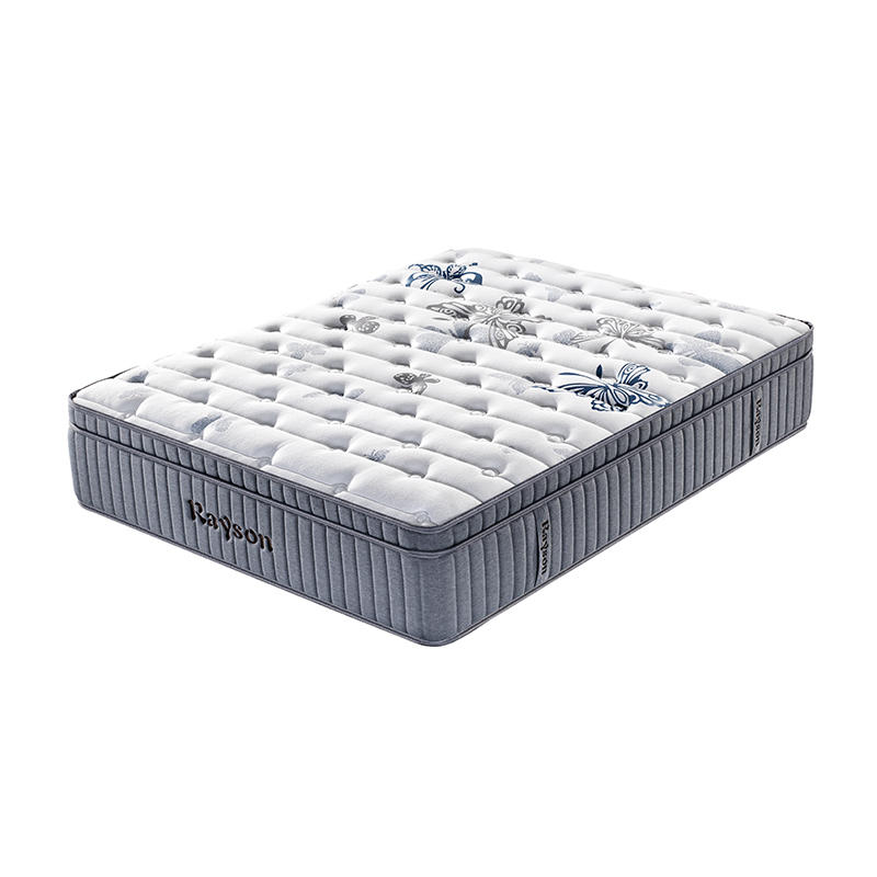 5 Star hotel euro top pocket spring mattress vs latex memory foam