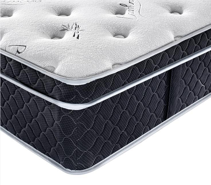 Hotel euro top gel memory foam king size spring mattress malaysia for back pain