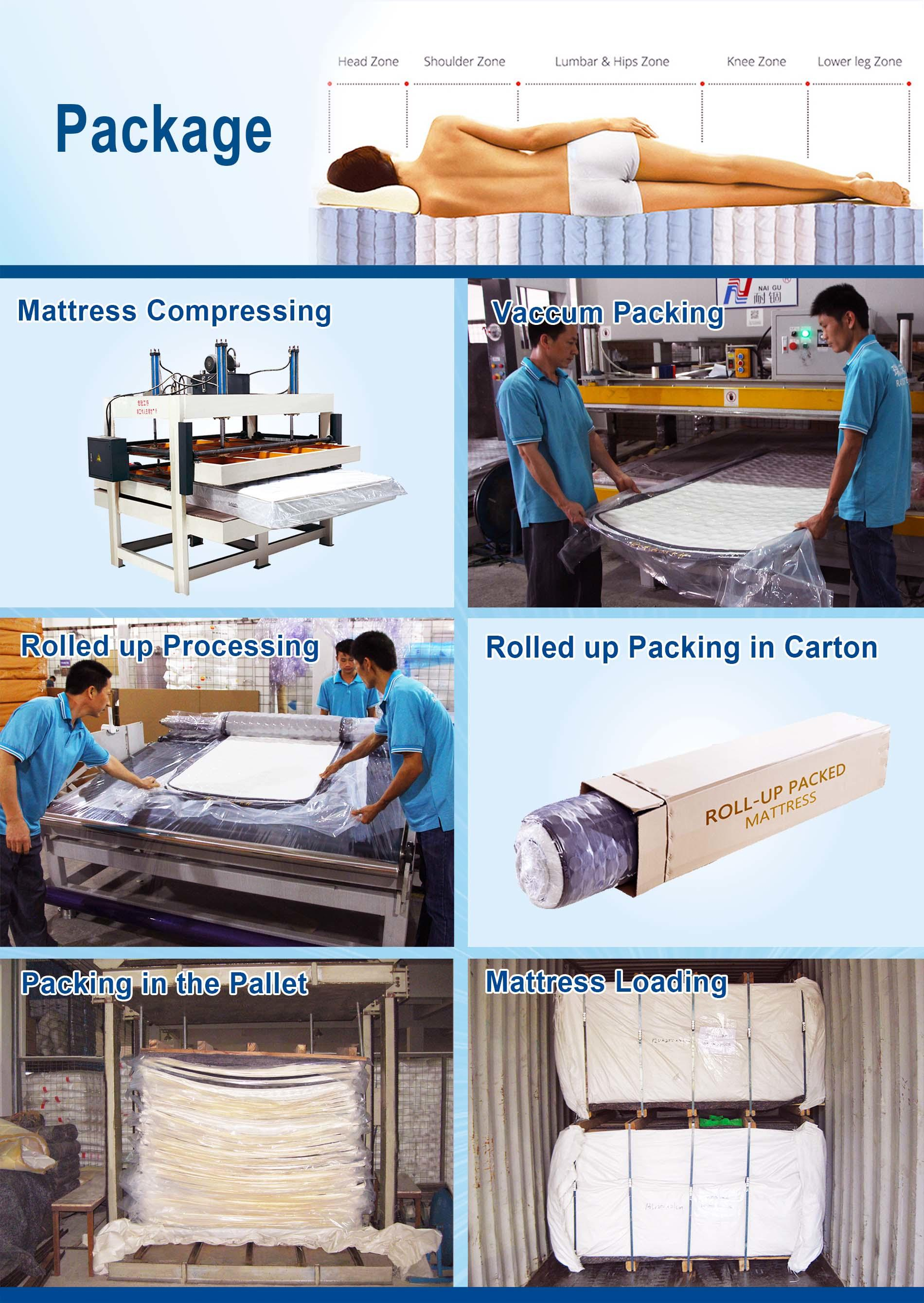 size spring king Rayson Brand roll up mattress queen manufacture