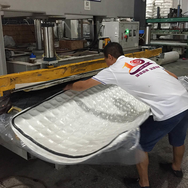 Spring mattress vacuum compressed rebound