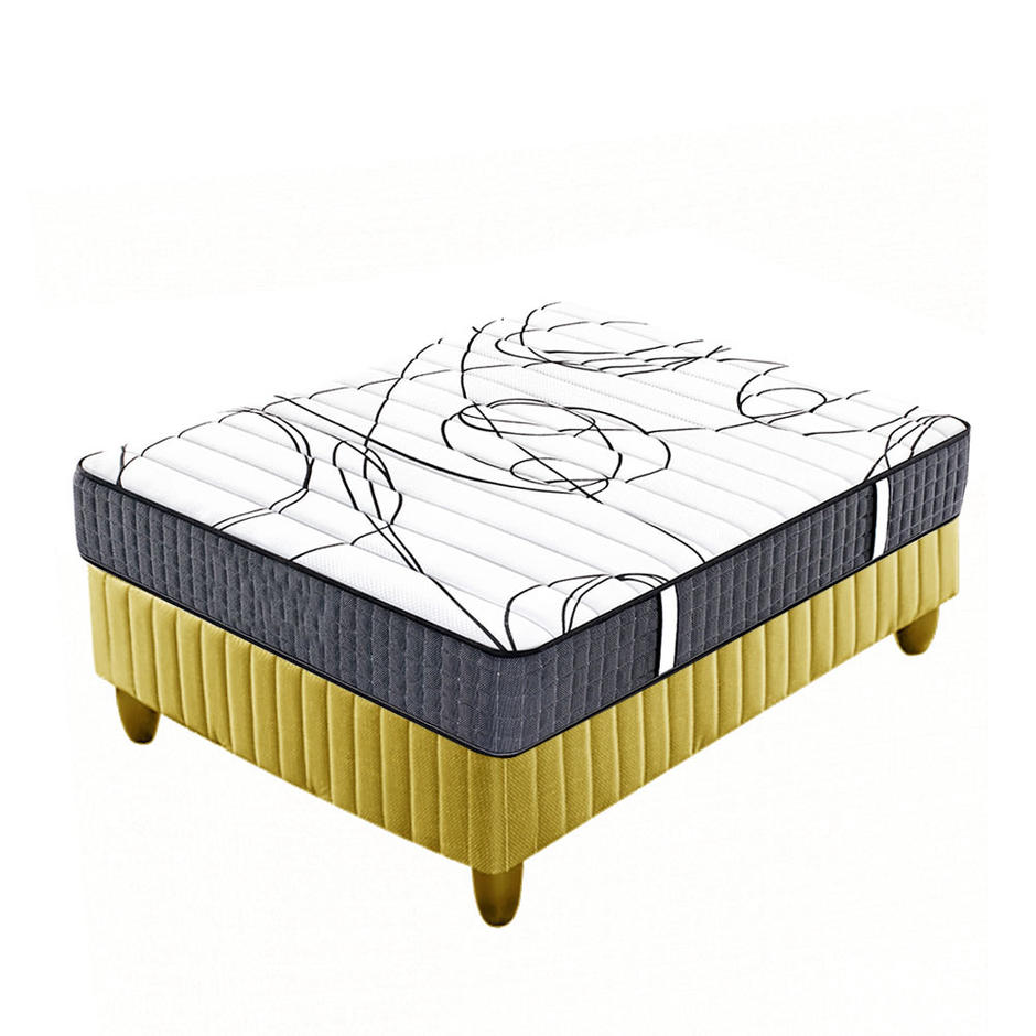 double side use modern tight top hard pocket spring mattress