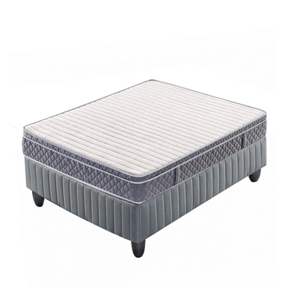 10 inch pocket spring memory foam mattress roll up matress