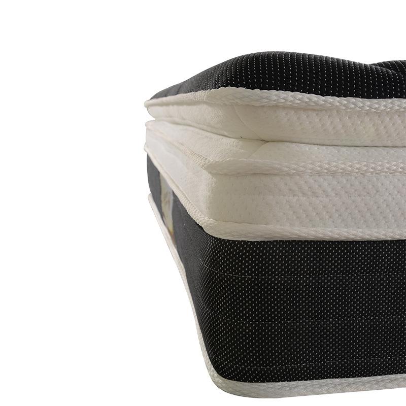 king size memory sprung 25D foam pillow top pocket spring mattress for hotel
