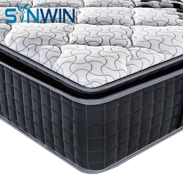 30cm Pillow top continuous coil compressed spring mattress for hotel