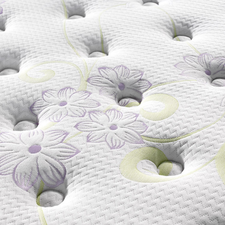 Jacquard knitted fabric hotel use pillow top memory foam pocket spring mattress