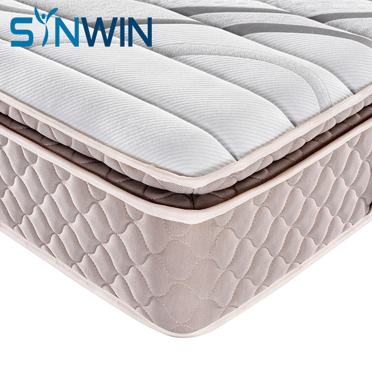 Pillow top roll packing pocket spring memory foam mattress furniture