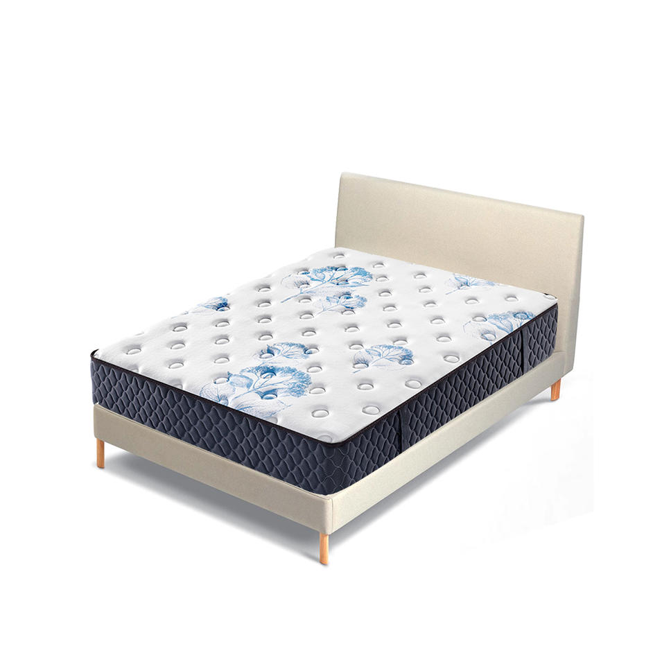 Roll up Memory foam Tight top continuous spring mattress for student dormitory