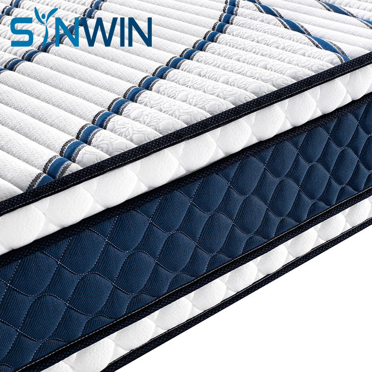 30cm Tight top continuous coil spring mattress factory mattress for dormitory