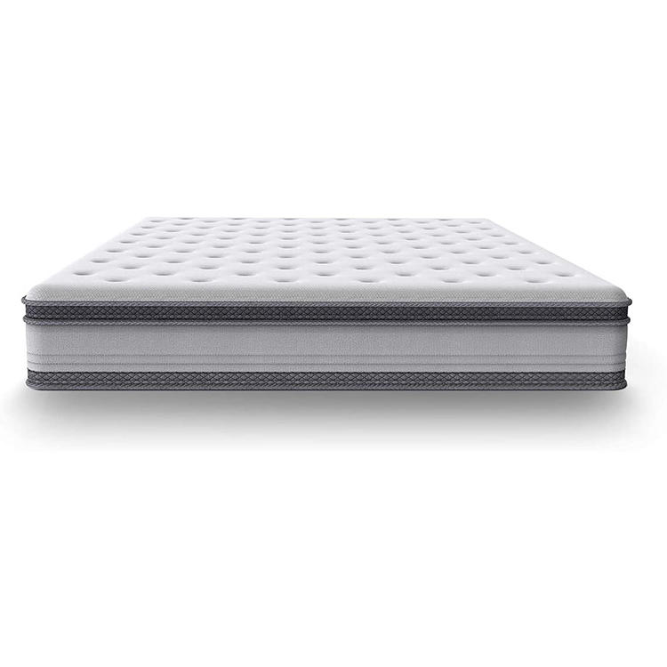 Mattress in a Box Euro Top Memory Foam and Spring Hybrid Mattress 7-zone Barrel-type 25cm High chinese bed mattress