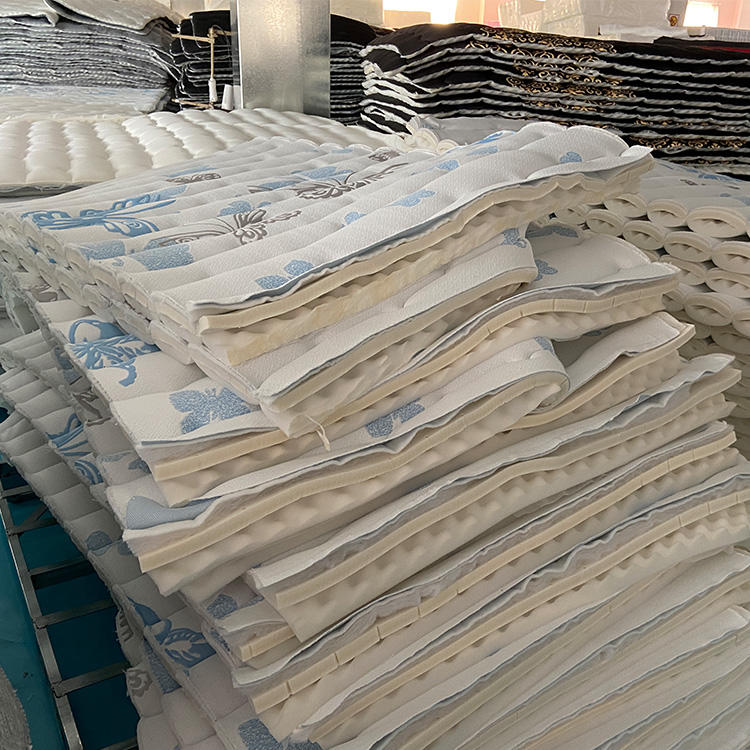 material in workshop ready to produce the mattress