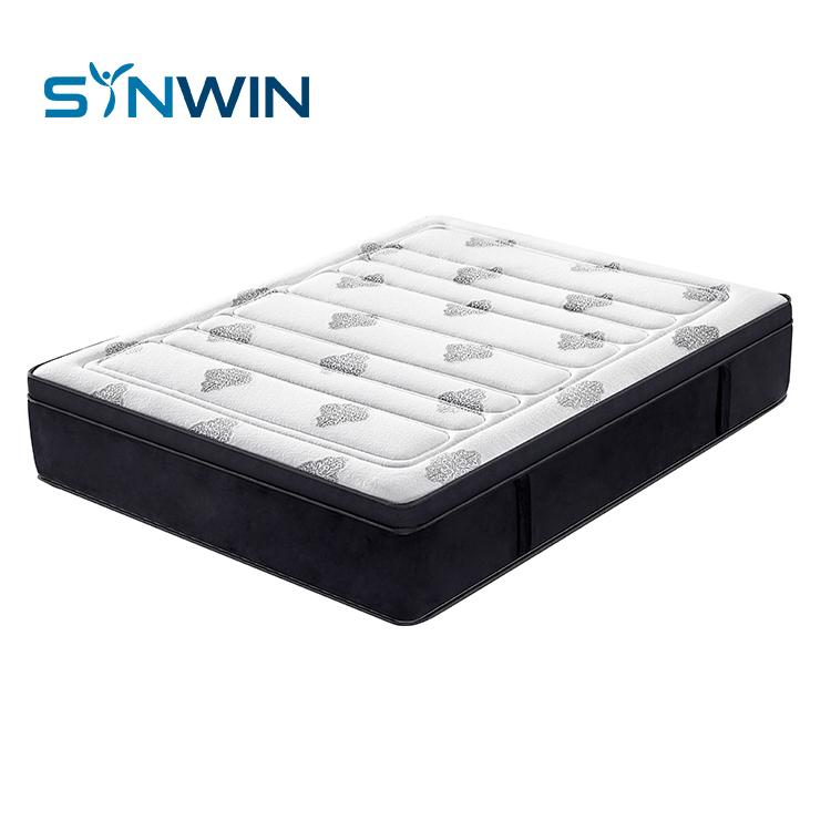 SYNWIN Euro top hotel spring mattress gel foam pocket spring mattress