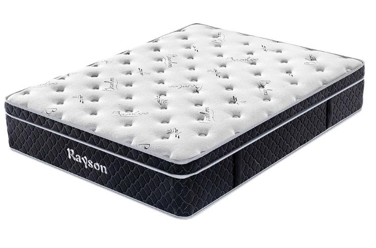 RSP-BT33 euro top bamboo fabric comfort foam pocket spring mattress