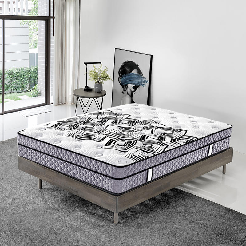 Best hotel king size 34cm height roll up bonnell coil spring mattress