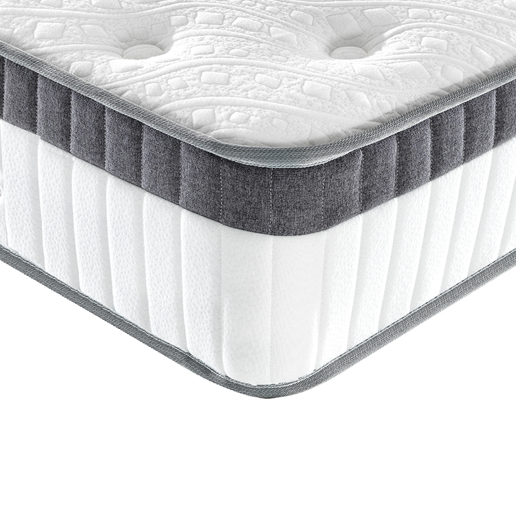 25cm Roll up packing euro top bed pocket spring mattress in box