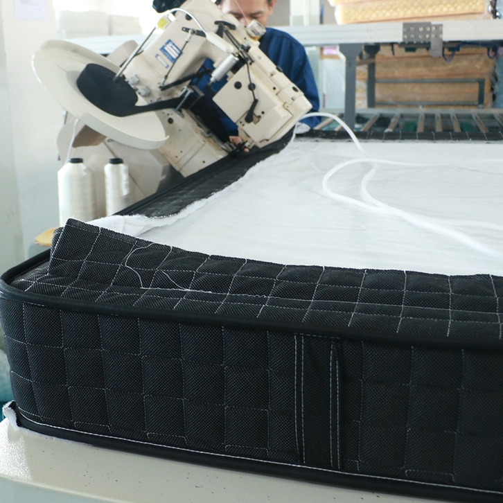 How to sew the edge of the mattress