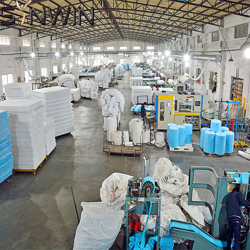Production process of independent spring mattress