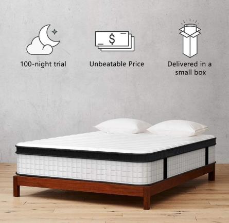 Memory foam two side spring bed mattress