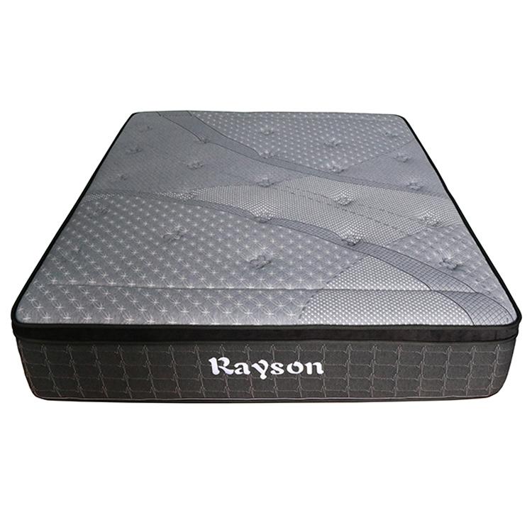 27cm 5 zone grey pillow top euro bed spring mattress