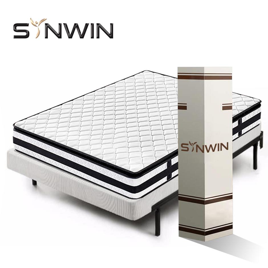 23cm tight top modern style firm mattress in box roll up spring mattress