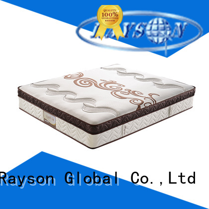 customized pocket spring mattress double chic design knitted fabric high density