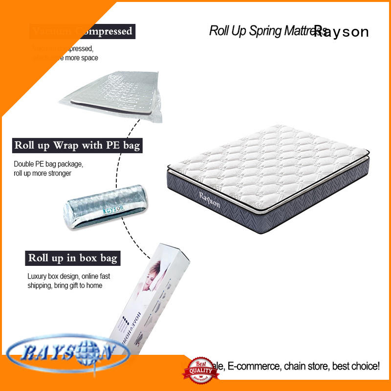 comfortable roll out mattress knitted fabric best sleep experience with spring