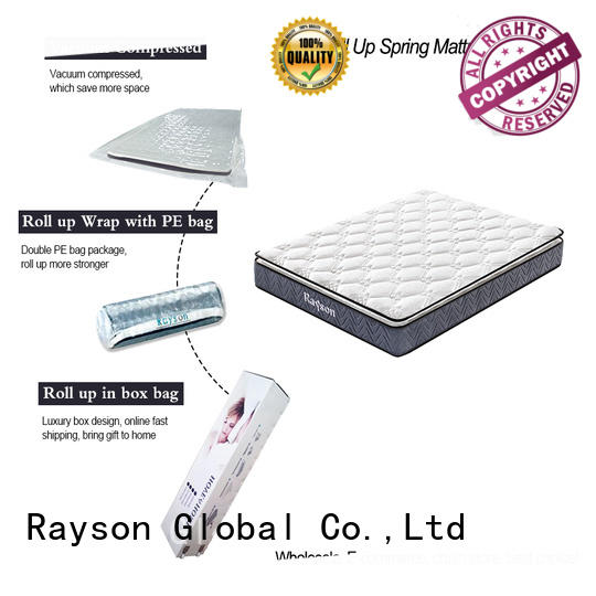 Synwin knitted fabric roll packed mattress reliable with pillow