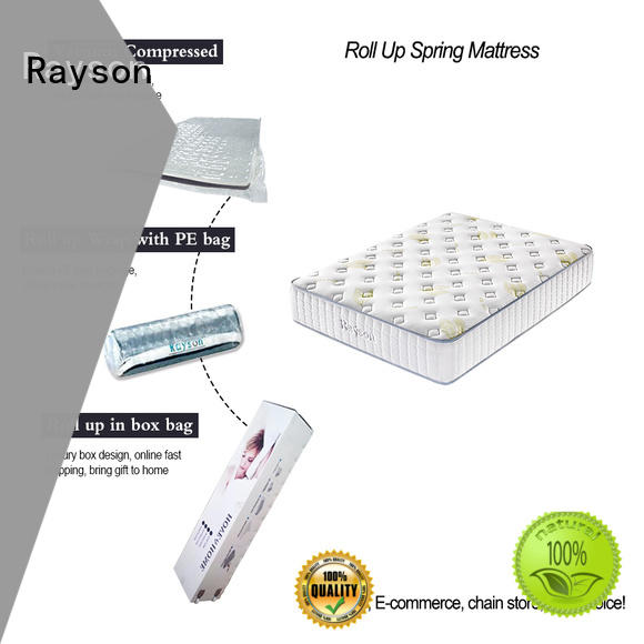 Rayson comfortable vacuum packed memory foam mattress vacuum compressed for wholesale