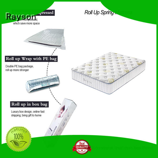 tight compressed rolled foam spring mattress latex Rayson company