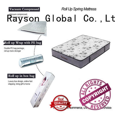 Rayson latex mattress rolled up in a box tight for customization