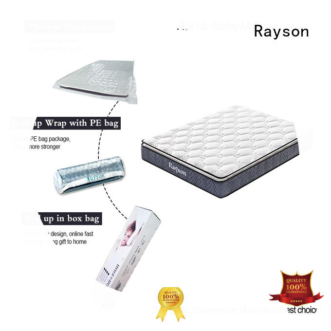Rayson hot-sale roll up foam mattress 21cm height with spring
