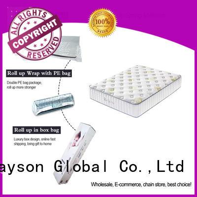 Rayson 25cm height rolled memory foam mattress top