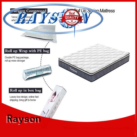 pillow top roll up double mattress Rayson manufacture