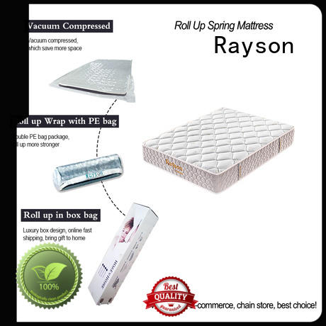 compressed top rolled foam spring mattress vs Rayson