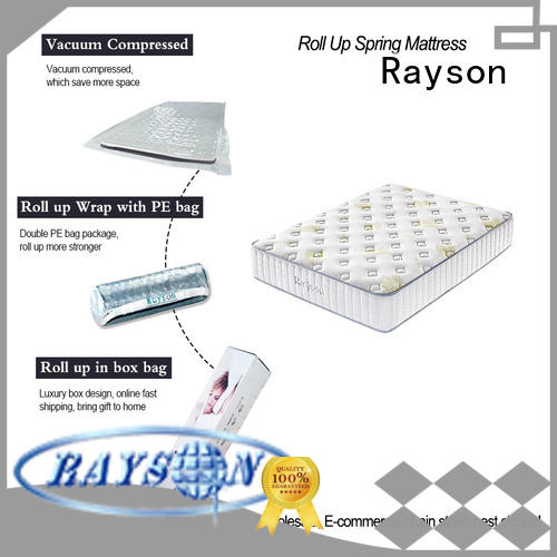 Rayson available roll up bed mattress vacuum compressed for sale