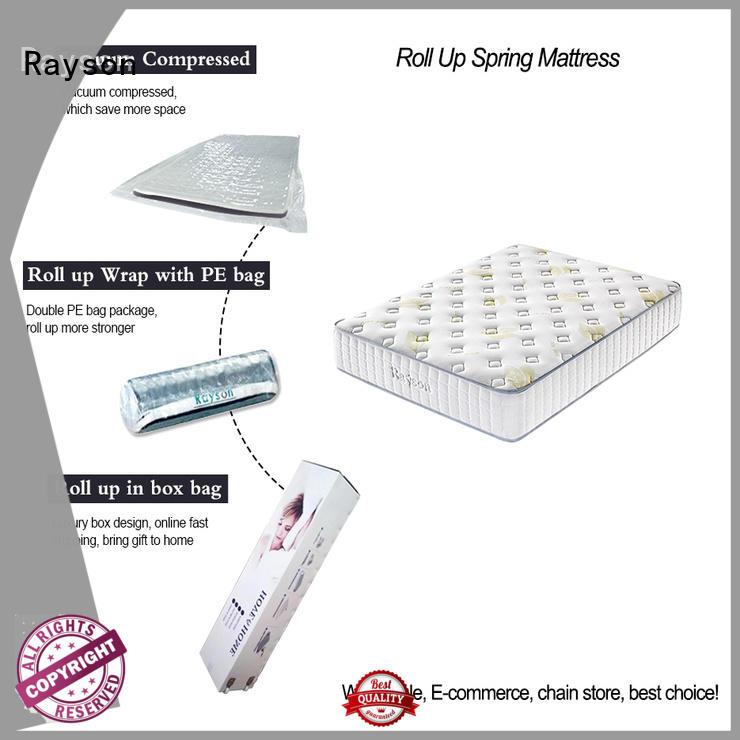 Rayson coil box vacuum packed memory foam mattress top