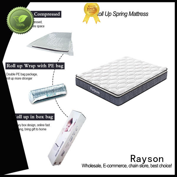 Rayson luxury roll up foam mattress reliable with spring