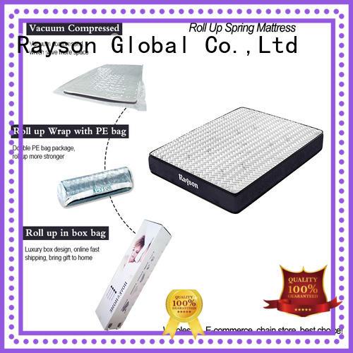 Custom pillow top roll up mattress Rayson roll