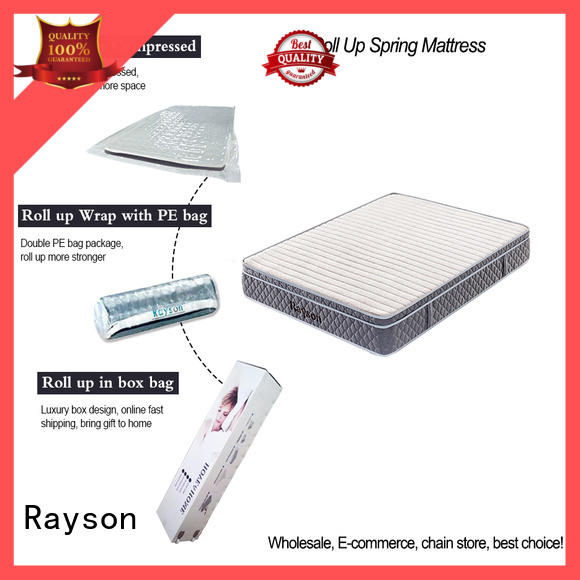 Rayson available mattress rolled up in a box latex at discount