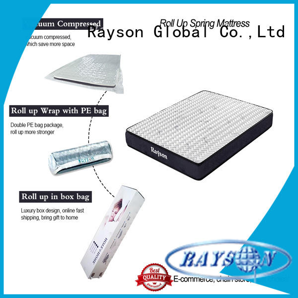 Rayson luxury roll packed mattress best sleep experience with pillow
