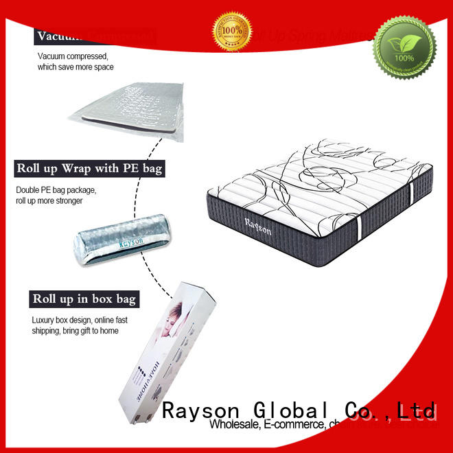 Rayson 25cm height rolled memory foam mattress tight