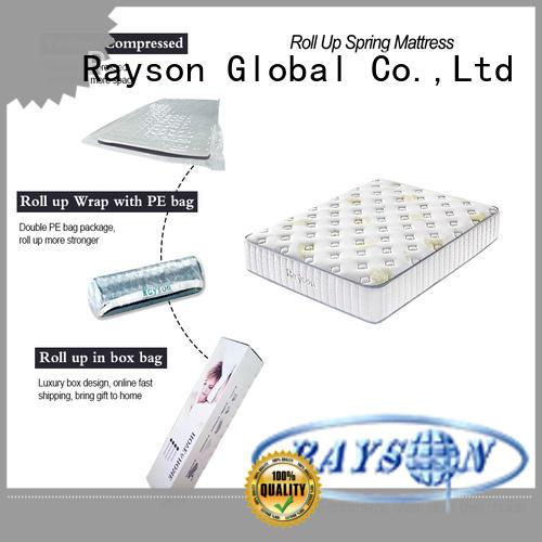 Rayson euro rolled foam mattress top for customization