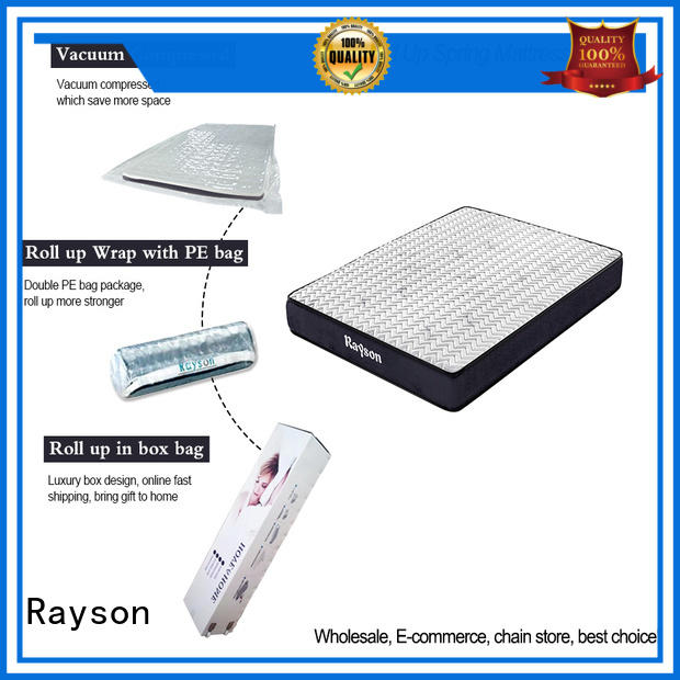 spring roll up double mattress top Rayson company